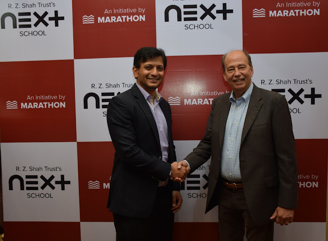 Mr Parmeet Shah CEO & Founder of NEXT School,  Mr Elliot Washer Co Founder of Big Picture Learning at launch of NEXT school in Mumbai