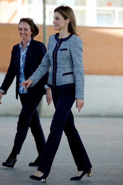 Princess Letizia of Spain visited the Maria Moliner school in Madrid