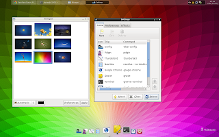 My Desktop (Centos 6) using openbox and tint2 and wbar