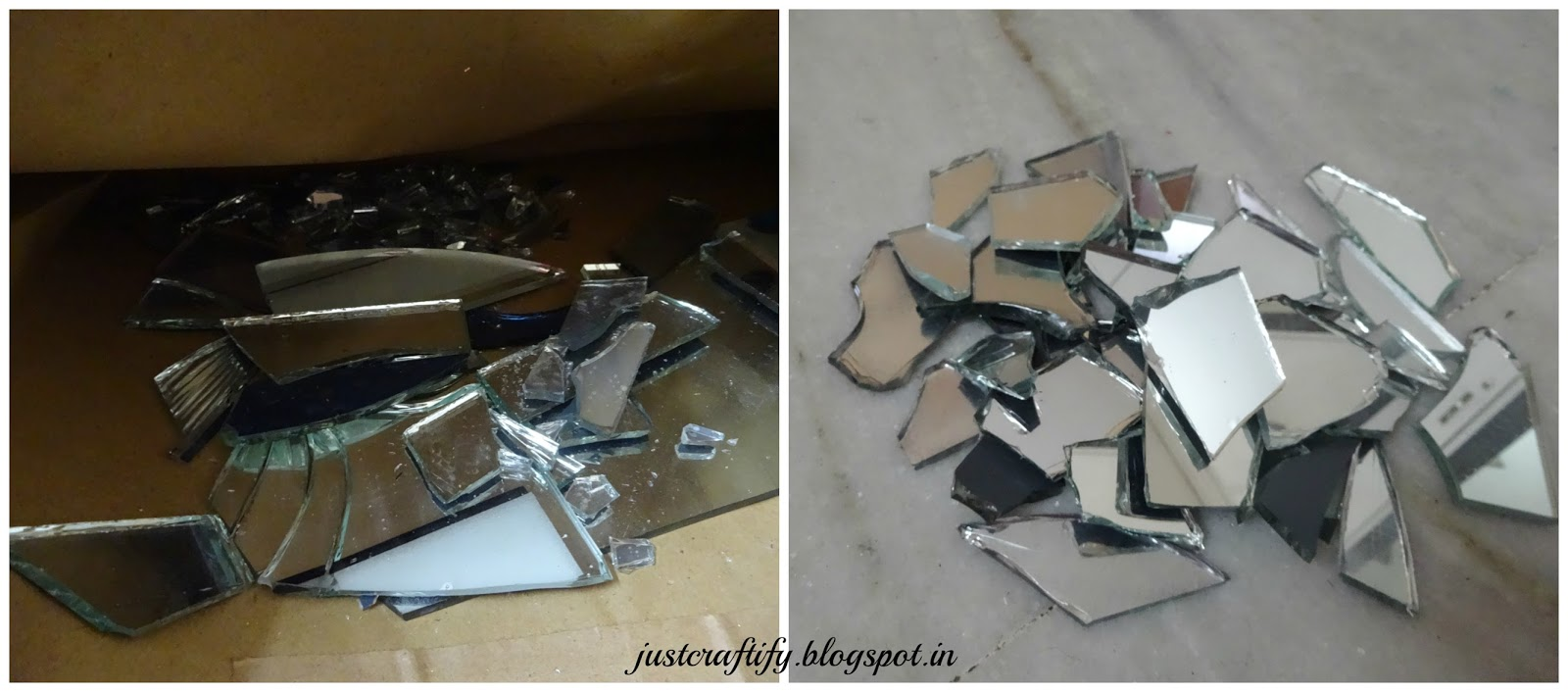 Just craftify broken mirror art for What to do with broken mirror pieces