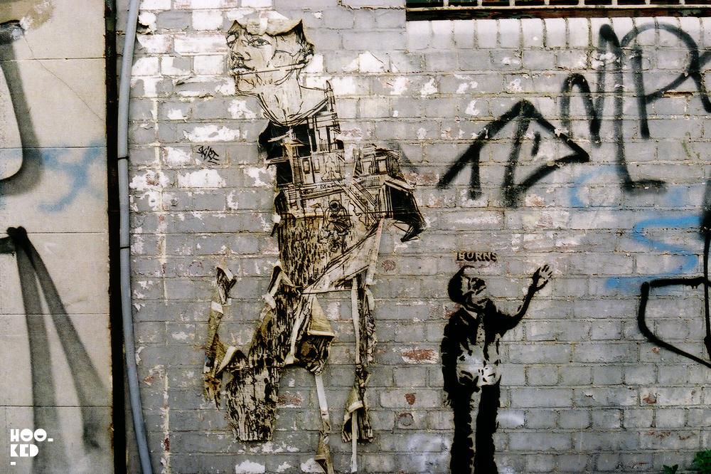 London Street Art by New York based street artist Swoon