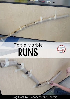STEM Challenge: Build a vertical marble run using cardboard tubes! Read this blog post for more!