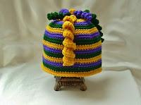 Mardi Gras Crochet Hat
