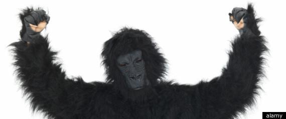 man in gorilla suit goes ape in little caesars the crypto crew
