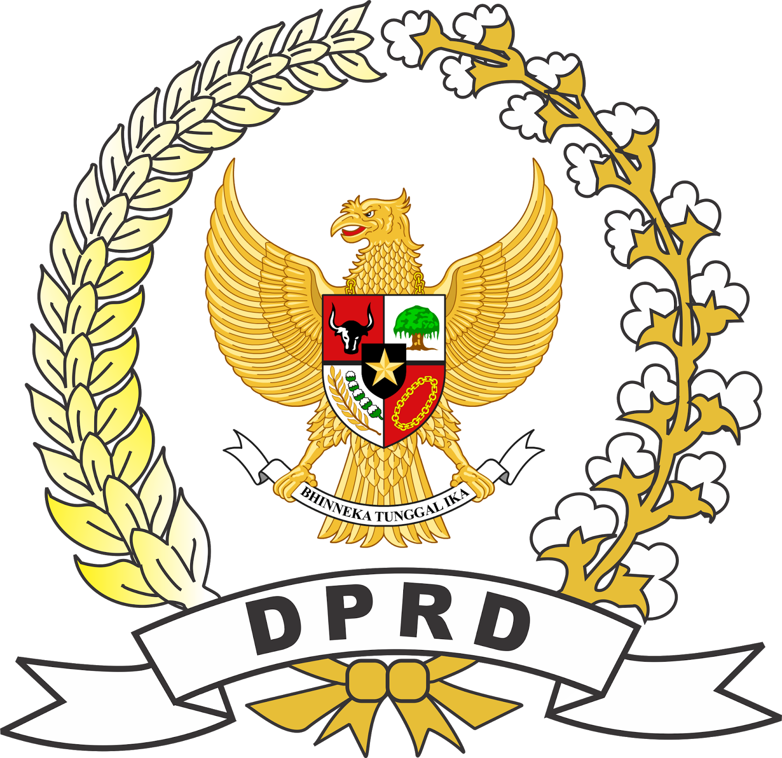 Logo DPR RI dan DPRD High Quality Vector