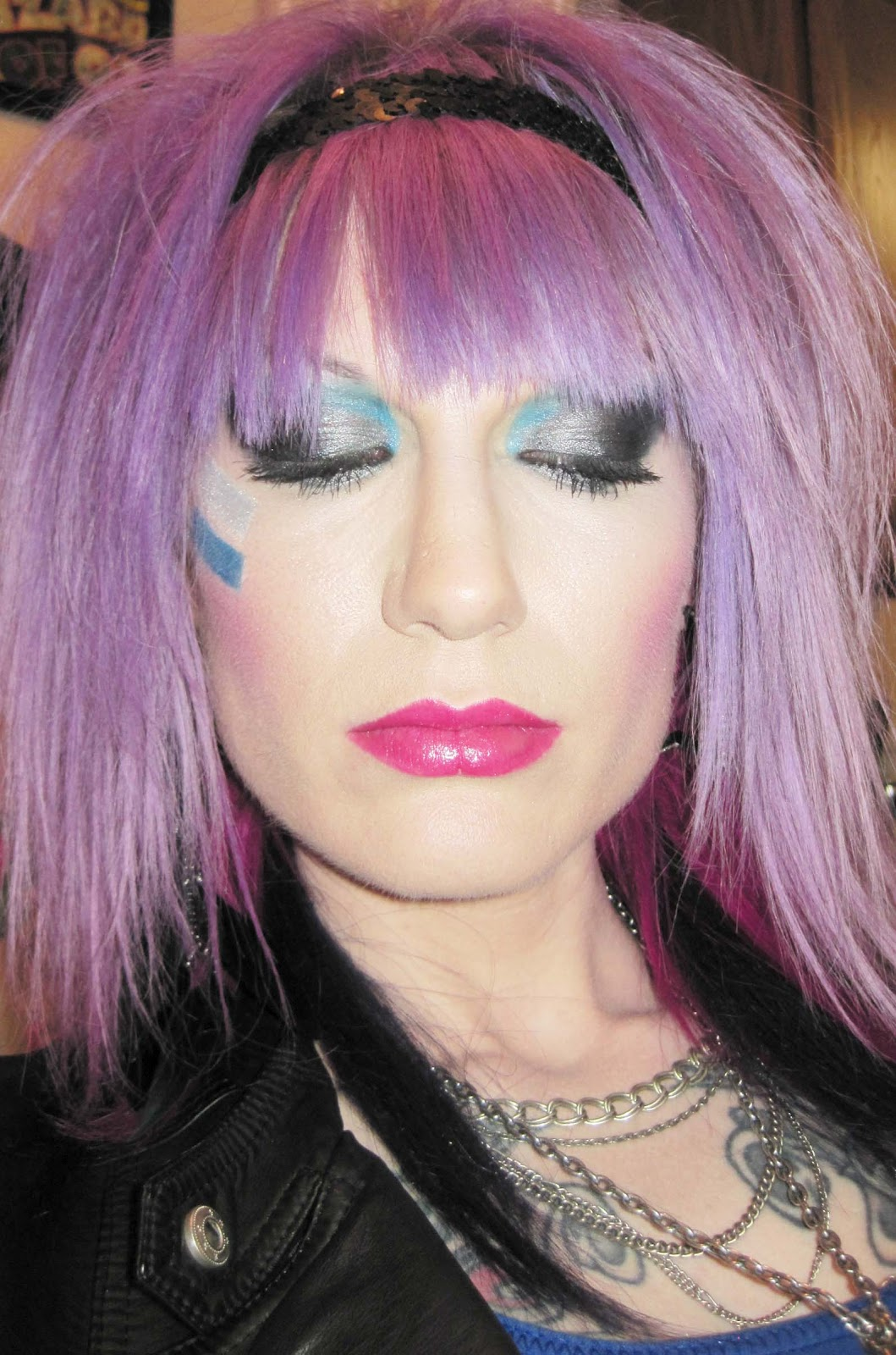 Close ups of the makeup. 1059 x 1600.Eighties Hairstyles And Makeup