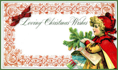 Loving Christmas Wishes Gift Tag, blank