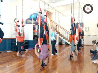 yoga, columpio, hamaca, trapecio, trapeze, swing, suspension