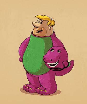 Pablo Mármol y Barney el dinosaurio