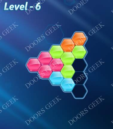 Block! Hexa Puzzle [5 Mania] Level 6 Solution, Cheats, Walkthrough for android, iphone, ipad, ipod