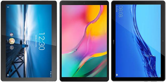 Lenovo Tab M10 vs Samsung Galaxy Tab A 10.1 (2019) vs Huawei Mediapad T5 10