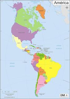 Mapa de América politico