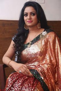 Udaya Bhanu lookssizzling in a Saree Choli at Gautam Nanda music launchi ~ Exclusive Celebrities Galleries 044.JPG