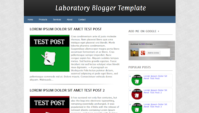 Laboratory Thesis SEO Blogger Template