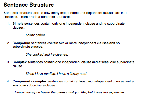 cool ways to learn english basic grammar sentence structure