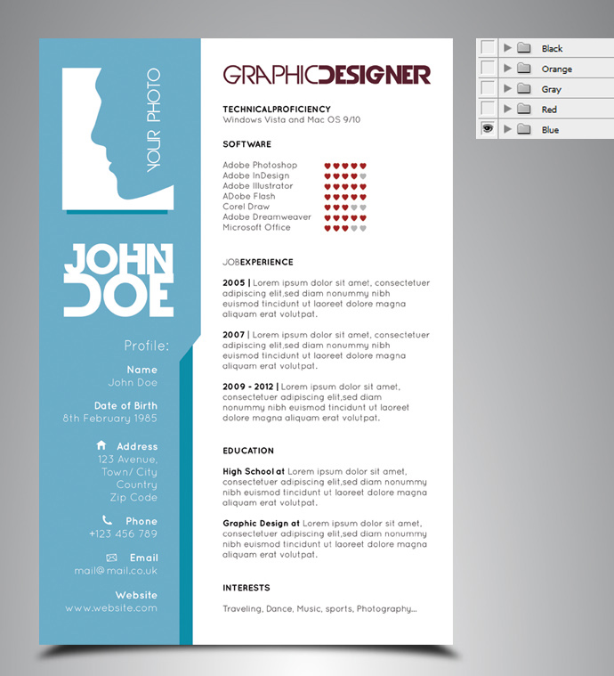 excellent cv templates free – Resume Forms Free