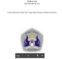 Contoh Makalah Ilmu Pendidikan Mata Pelajaran Bahasa Indonesia Terbaru Pdf Download