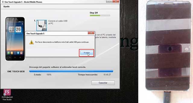 proceso de carga del firmware al dispositivo
