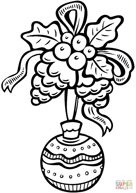 Click The Christmas Ornament Coloring Pages To View