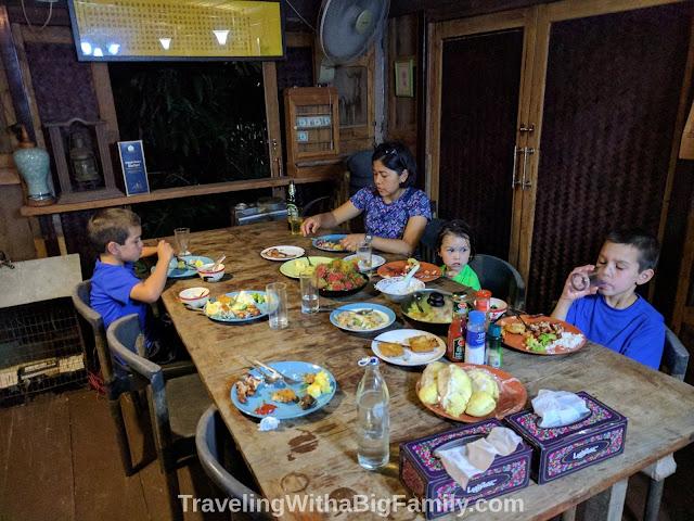 Visiting Ayutthaya with a Big Family
