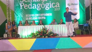 Iniciada Semana Pedagógica 2017 em Picuí