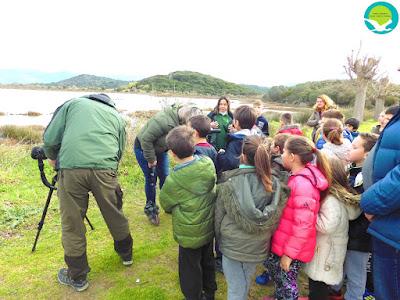 ΗΓΟΥΜΕΝΙΤΣΑ-Ξενάγηση του δημοτικού σχολείου Παραποτάμου στη λιμνοθάλασσα Βατάτσας