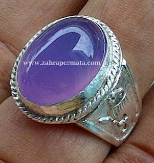 Cincin Batu Permata Lavender Chalcedony