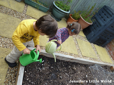 Children enjoying the garden