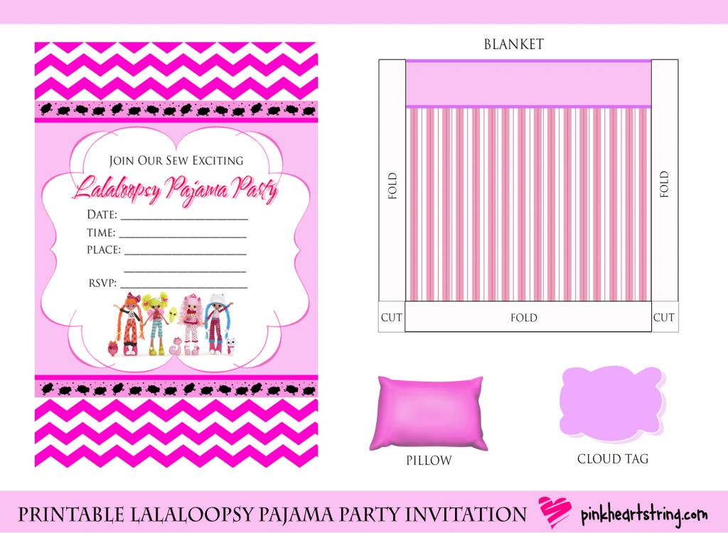 Pink Heart String: DIY Lalaloopsy Pajama Party Invitation + Paper ...