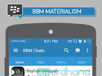 BBM Materialism Flat Blue Sky V2.11.0.18 Apk Terbaru