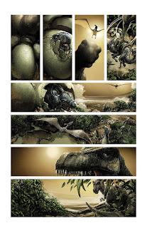 Voici les premieres planches de la mini-série de Valiant, 4001 A.D.    Le scénario sera de Matt Kindt et les dessins de Clayton Crain