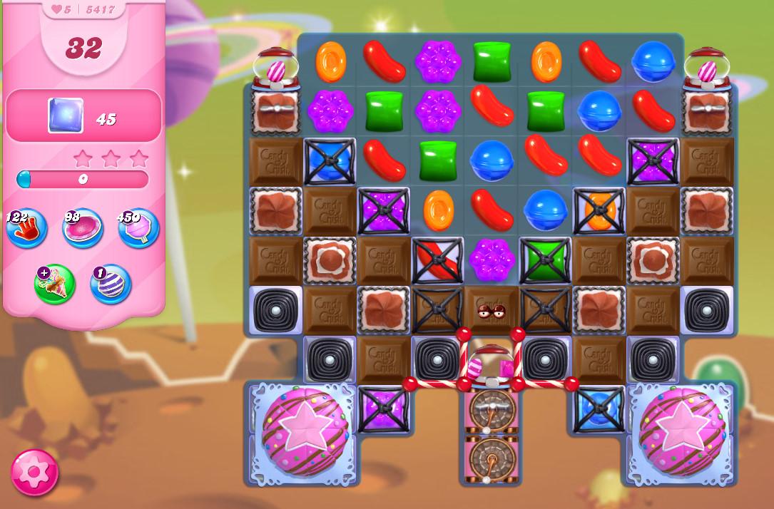 Candy Crush Saga level 5417
