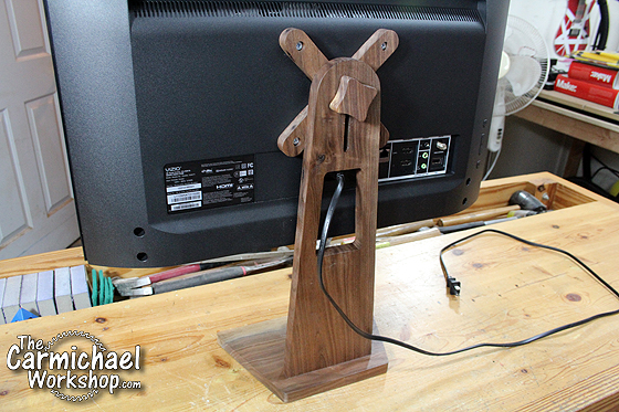 DIY Monitor TV Stand by The Carmichael Workshop