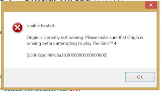 "Cara mengatasi "" error Origin is Currently not Running. Plese make sure that Origin is running before attemping to play the sims 4"""