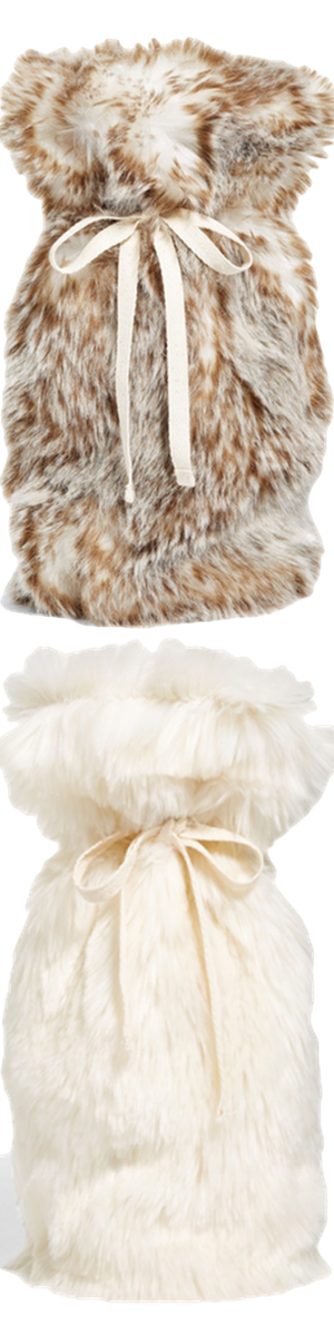 Nordstrom At Home Cuddle up Faux Fur ivory wine bags (sold separately