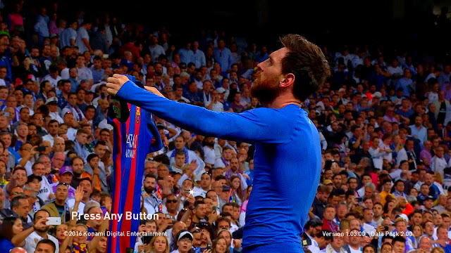 PES 2017 Lionel Messi Goal Celebration VS Real Madrid Startscreen by Vusal03
