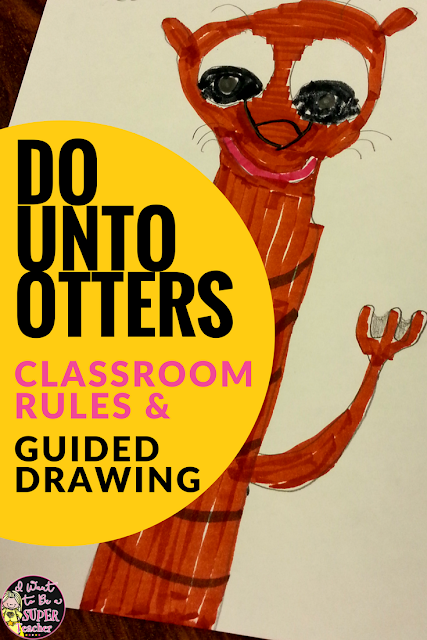 Such a cute idea for a back to school book! The otter guided drawings would make a perfect bulletin board display. You can also use this book to set up classroom rules and expectations. Would work well in 1st, 2nd, or 3rd grade.
