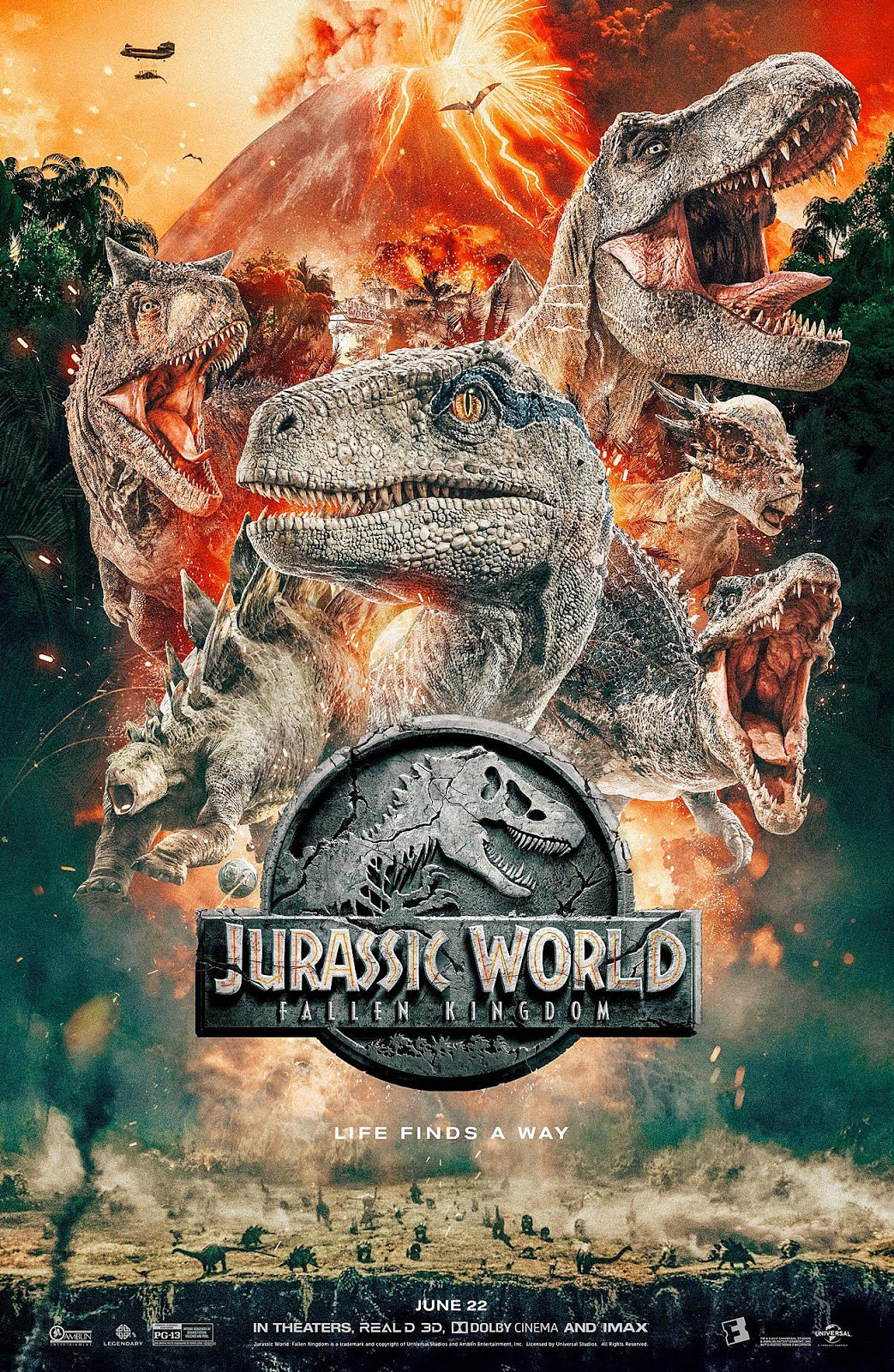 Jurassic World 2 Fallen Kingdom (2018) Dual Audio Hindi 400MB BluRay 480p x264 ESubs