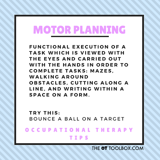What is motor planning activities