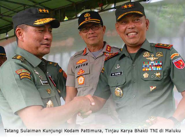 Tatang Sulaiman Kunjungi Kodam Pattimura, Tinjau Karya Bhakti TNI di Maluku
