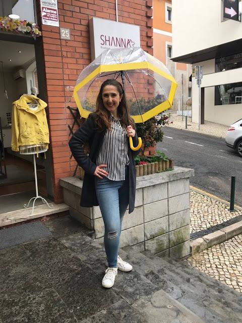 tendência blusa às riscas na shanna boutique