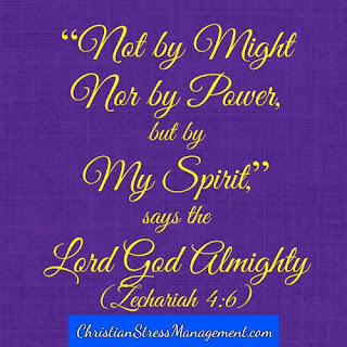 Not by might, nor by power but by My Spirit, says the Lord God Almighty. (Zechariah 4:6)