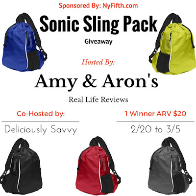 Enter the Sonic Sling Pack Giveaway. Ends 3/5