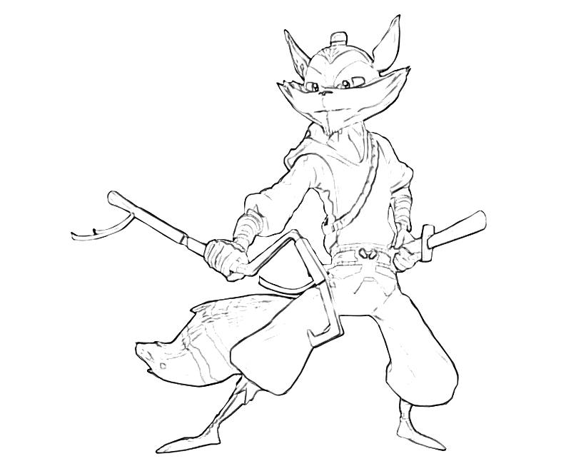 Sly Cooper Coloring Pages - Eskayalitim