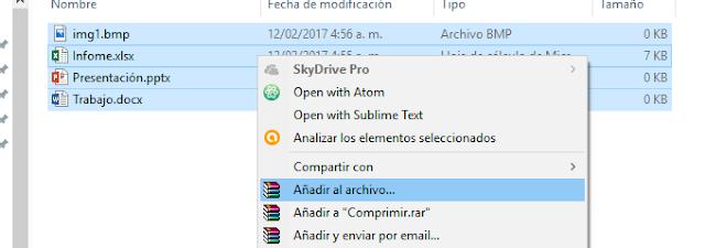 Añadir al archivo...