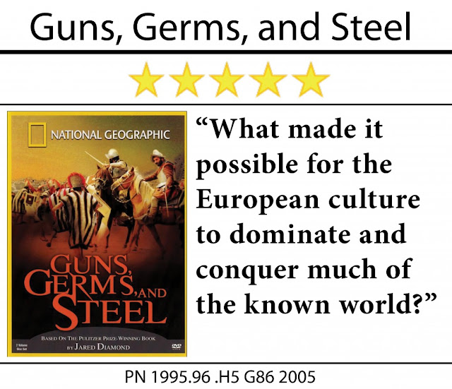 a summary of jared diamonds guns germs and steel In ''guns, germs, and steel,'' an ambitious, highly important book, jared diamond asks: how did pizarro come to be at cajamarca capturing atahualpa, instead of atahualpa in madrid capturing king charles i why, indeed, did europeans (and especially western europeans) and asians always triumph in.
