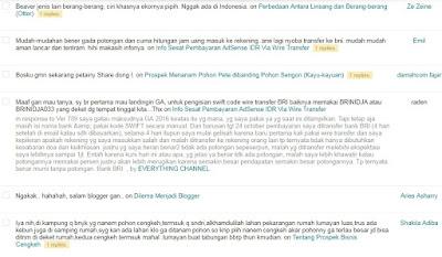 Halaman Daftar Isi Blog Udah Bisa Diakses Lagi