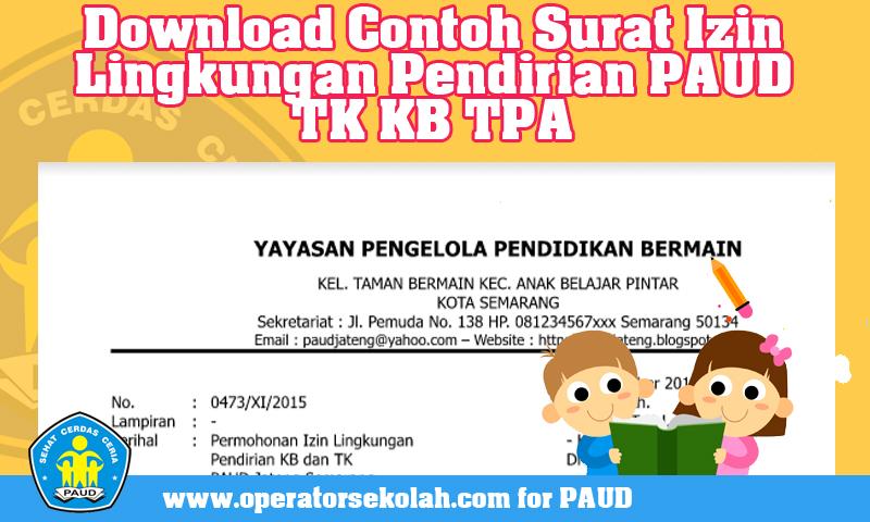 [Download] Contoh Surat Izin Lingkungan Pendirian PAUD TK KB TPA