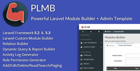 PLMB - Powerful Laravel CRUD Generator
