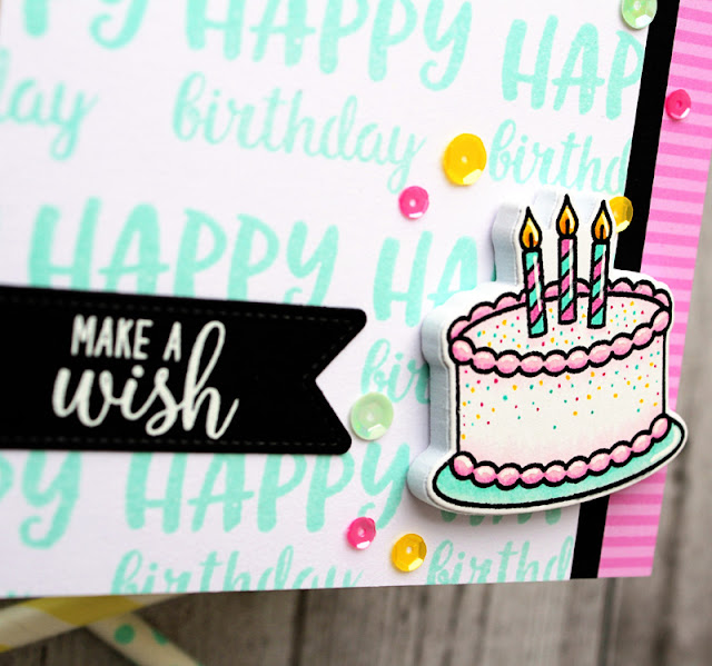 Sunny Studio Stamps: Make A Wish Fancy Frames Heartfelt Wishes Birthday Card by Vanessa Menhorn
